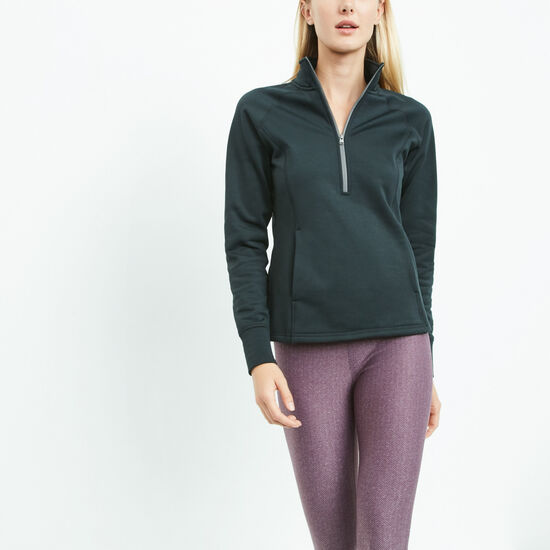Roots-Sale Women's-Madison Mid Layer Half Zip-Black-A