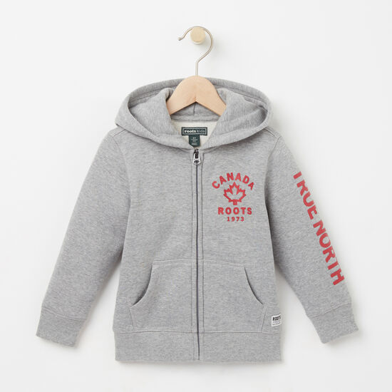 Roots-Kids New Arrivals-Toddler True North Full Zip Hoody-Grey Mix-A