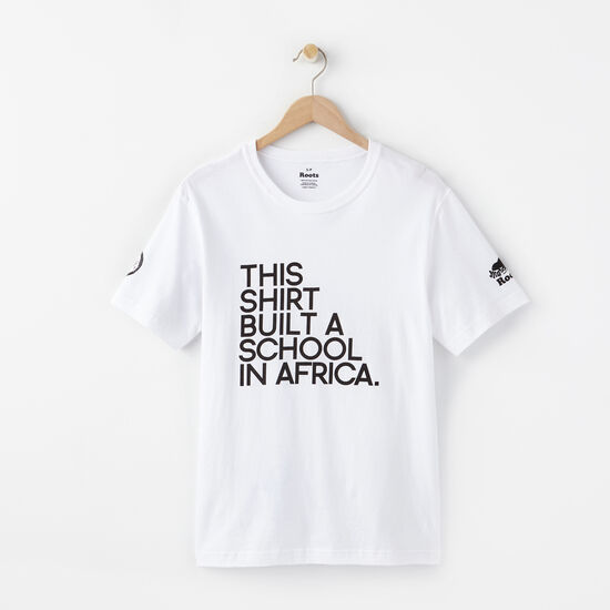 Roots - Mens Build A School T-shirt-white