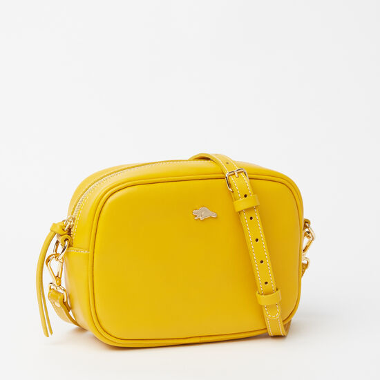 Roots-Leather Shoulder Bags-Lorna Bag Bridle-Yellow-A