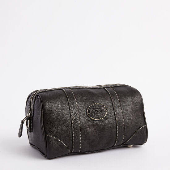 Roots-Leather Leather Accessories-Banff Travel Kit Prince-Black-A