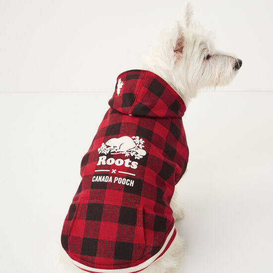 Roots-Men Roots Home-Roots X Canada Pooch Buffalo Plaid - Size 14-Lodge Red-A