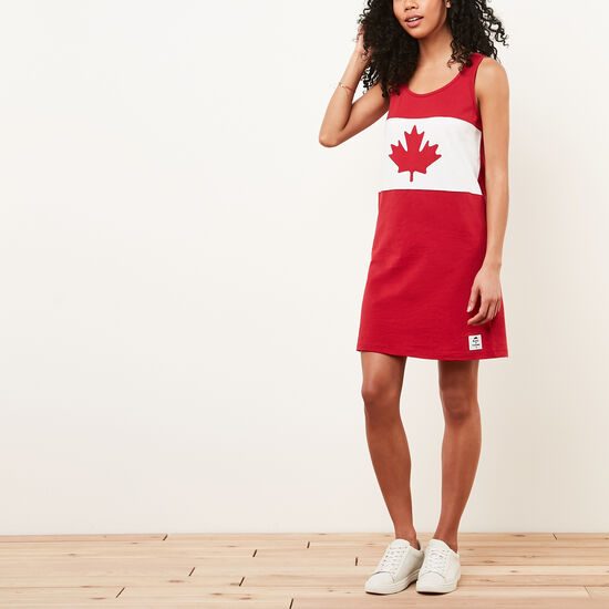 Roots-Men Women's-Blazon Jersey Dress-Sage Red-A