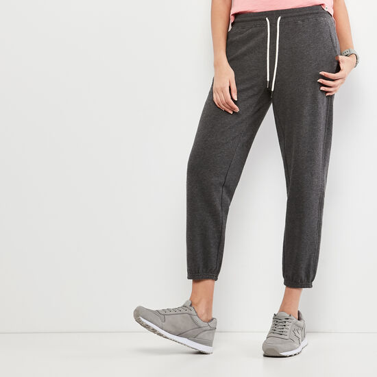 Roots-Women Slim Sweatpants-Sydney Sweatpant-Charcoal Mix-A