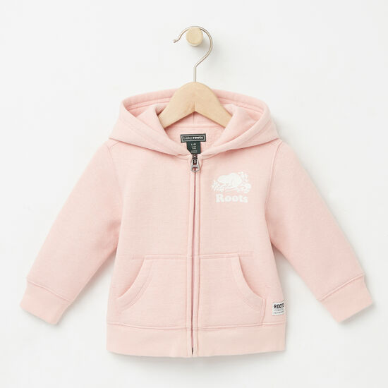 Roots-Kids Baby-Baby Original Full Zip Hoody-Silver Pink-A