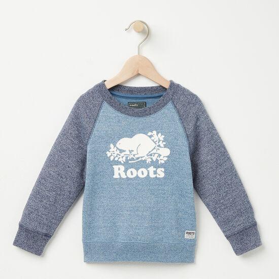 Roots-Kids Tops-Toddler Pepper Contrast Sweatshirt-Copen Blue Pepper-A