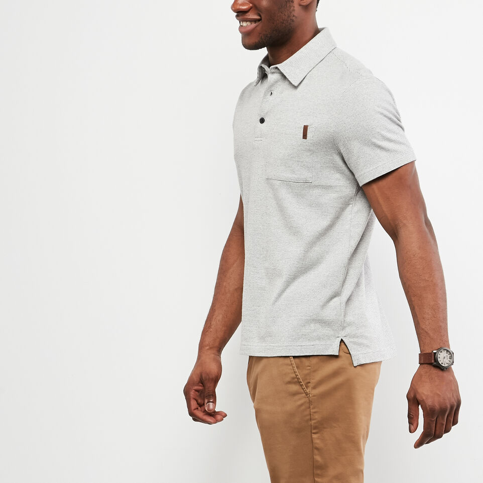 Roots-undefined-Cedar Striped Jersey Polo-undefined-B