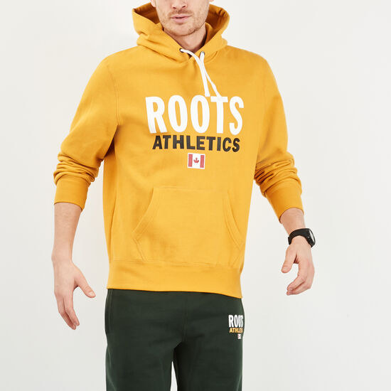 Roots-Men New Arrivals-Roots Re-issue Classic Kanga Hoody-Ancient Gold-A