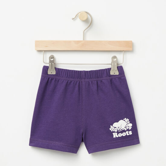 Roots-Kids Baby Girl-Baby Original Athletic Shorts-Mulberry Purple-A