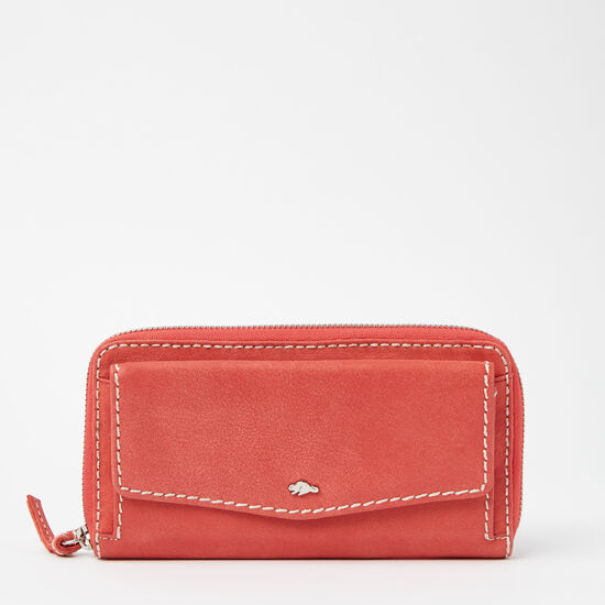 Roots-Women Bags-Eve Front Pocket Wallet Tribe-Coral-A