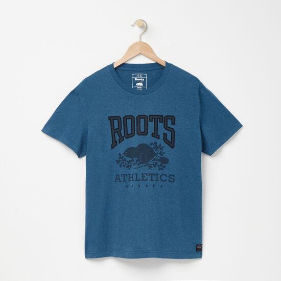 Roots-Men Graphic T-shirts-RBA T-shirt-Deep Teal Blue Mix-A