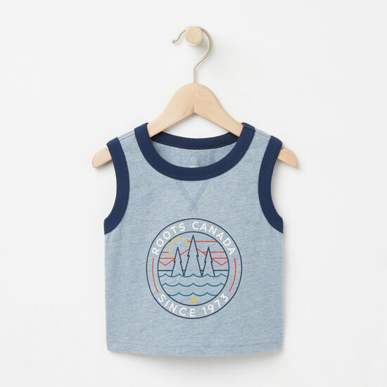 Roots-Kids Baby-Baby Knox Sleeveless Top-Bluestone-A