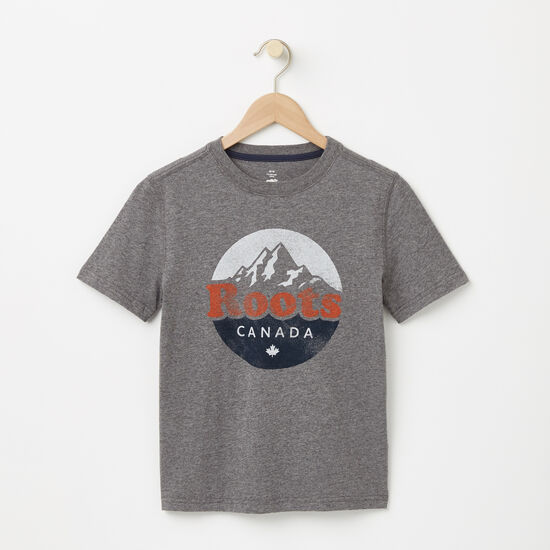 Roots-Kids T-shirts-Boys Cooper Mountain T-shirt-Med Grey Mix-A