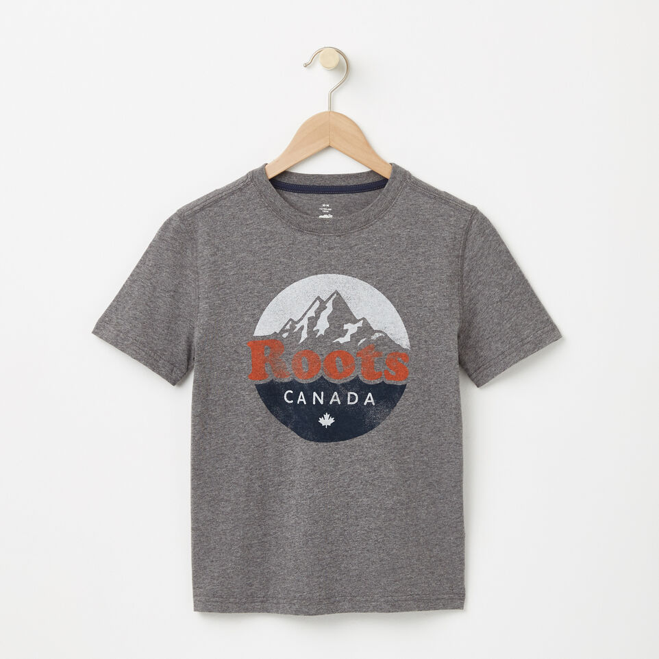 Roots-undefined-Garçons T-shirt Montagne Cooper-undefined-A