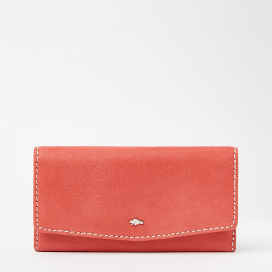 Roots-Women Bags-Eve Clutch Wallet Tribe-Coral-A