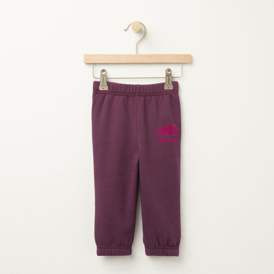 Roots-Kids Bottoms-Baby Original Sweatpant RTS-Blackberry Wine-A