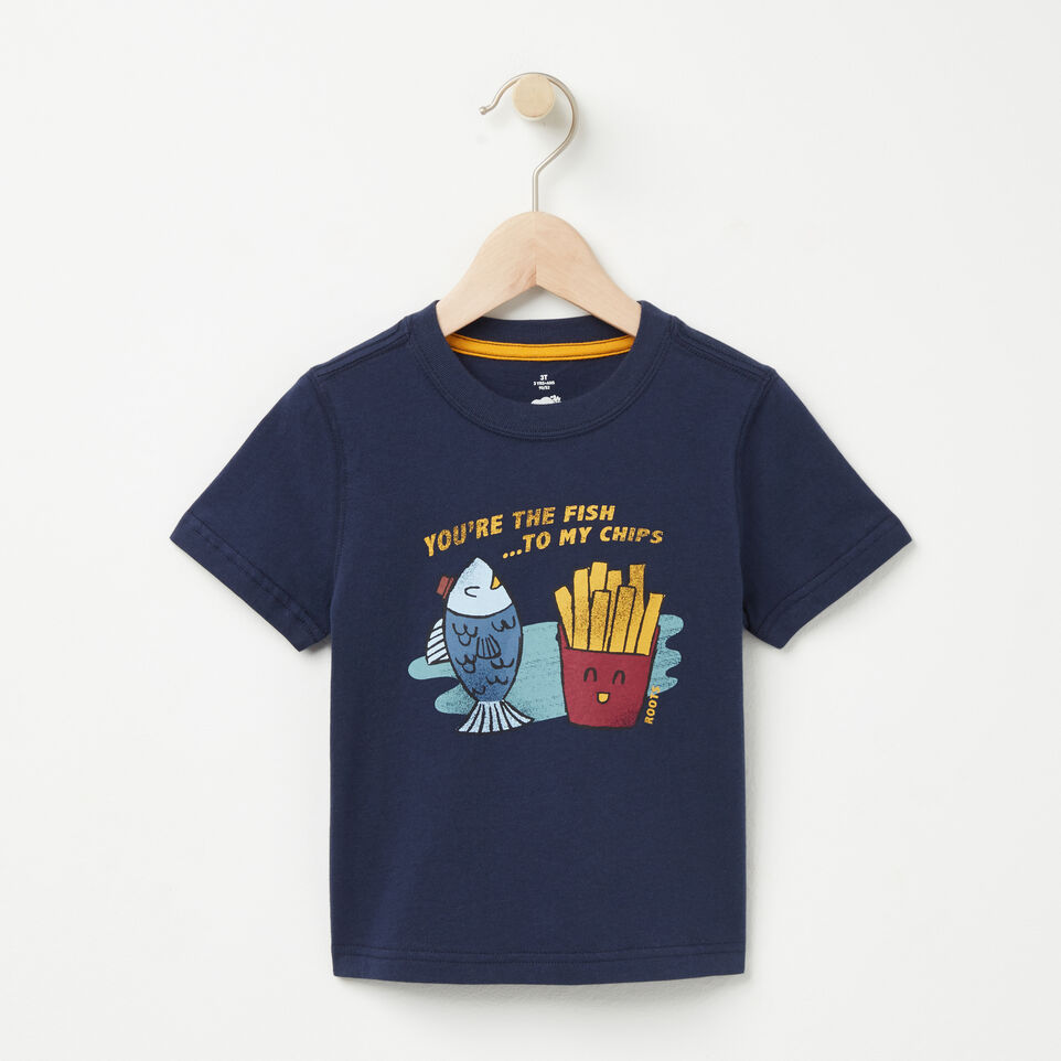 Roots-undefined-Tout-Petits T-shirt Fish N Chips-undefined-A