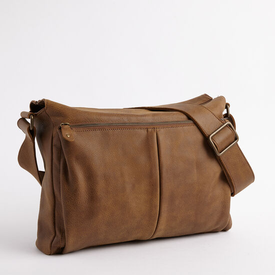Roots-Leather Tribe Leather Collection-Cargo Messenger Tribe-Africa-A