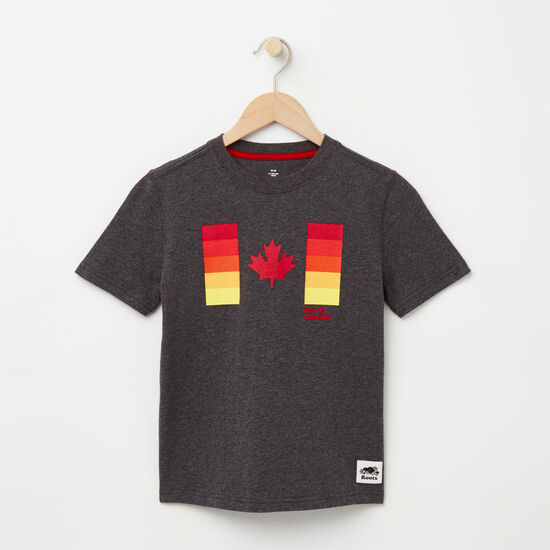 Boys Gradient Canadian Flag T-shirt