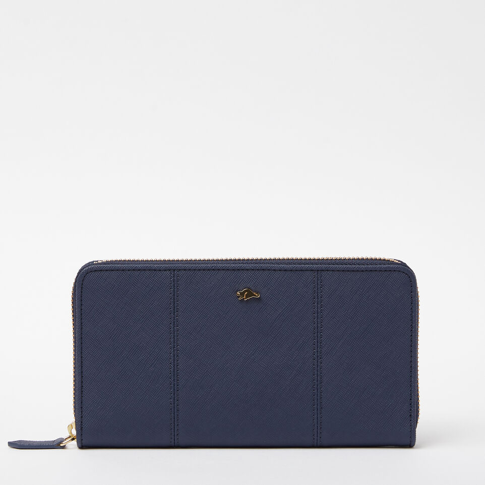 Roots-undefined-Open Flat Wallet Saffiano-undefined-A