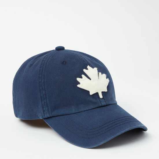 Roots-Femmes Chapeaux-Casq Baseball Feuille Érable-Bleu Cascade-A
