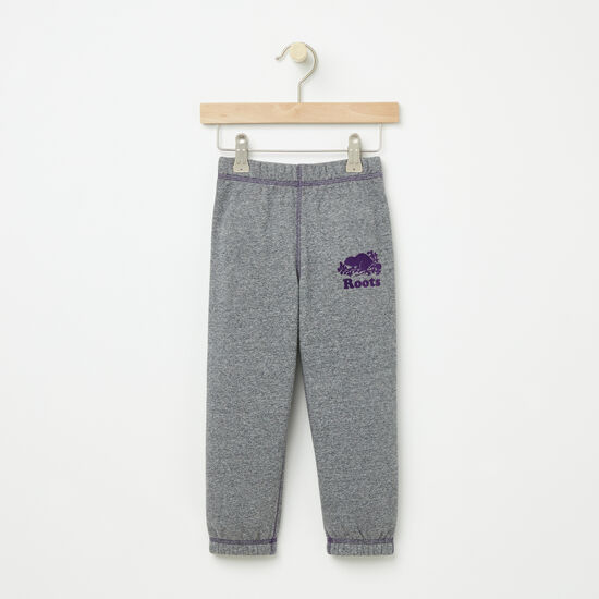 Roots-Kids Bottoms-Toddler Slim Sweatpant RTS-Granite Mix-A