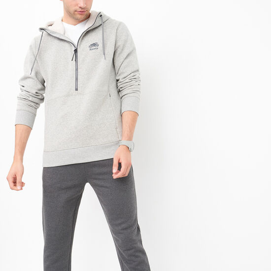 Roots-Men Active-Camp Fleece Anorak-Grey Mix-A