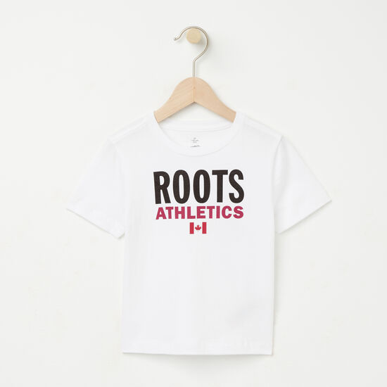 Roots-Kids Roots Re-issue-Toddler Roots Re-issue T-shirt-White-A