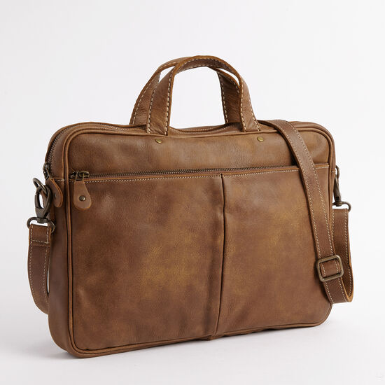 Roots-Men Briefcases & Messengers-Slim Laptop Case Tribe-Africa-A