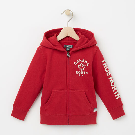 Roots-Kids Toddler Boys-Toddler True North Full Zip Hoody-Scooter Red-A