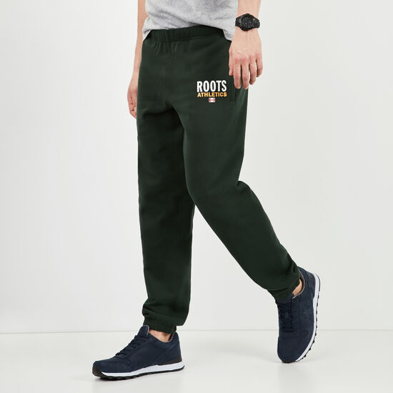 Roots-Men New Arrivals-Roots Re-issue Classic Sweatpant-Park Green-A