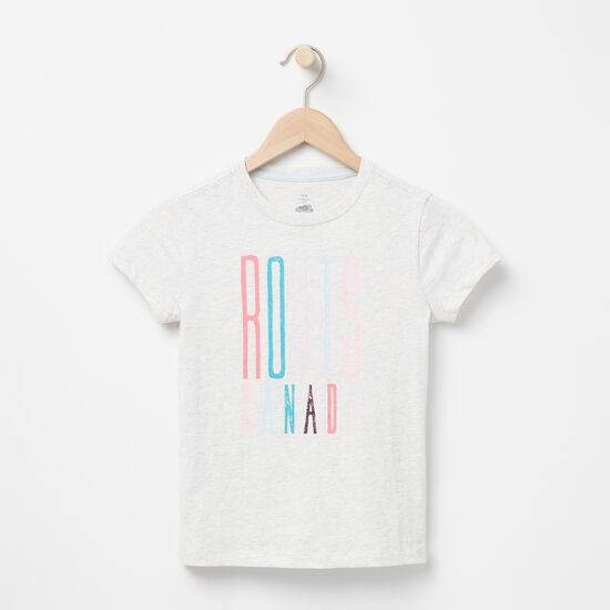 Roots-Enfants T-shirts-Filles T-shirt Canada Roots-Mlg Glace Enneigée-A