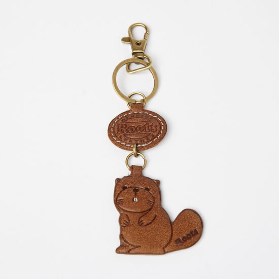 Roots-Men Small Leather Goods-Beaver Keychain Charm Tribe-Africa-A