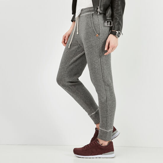 Roots-Women Slim Sweatpants-True North Pant-Salt & Pepper-A