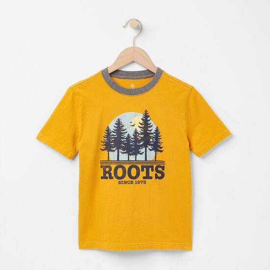 Roots-Kids T-shirts-Boys Sun T-shirt-Ancient Gold-A