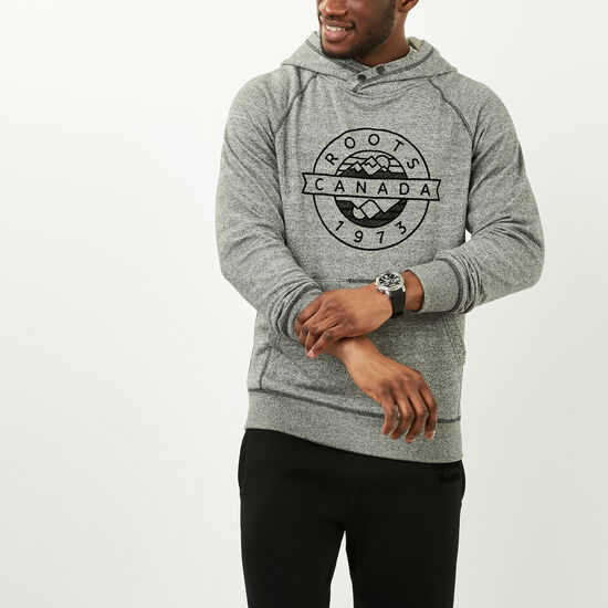 Roots-Men Sweatshirts & Hoodies-Tremblant Kanga Pullover-Speckle-A