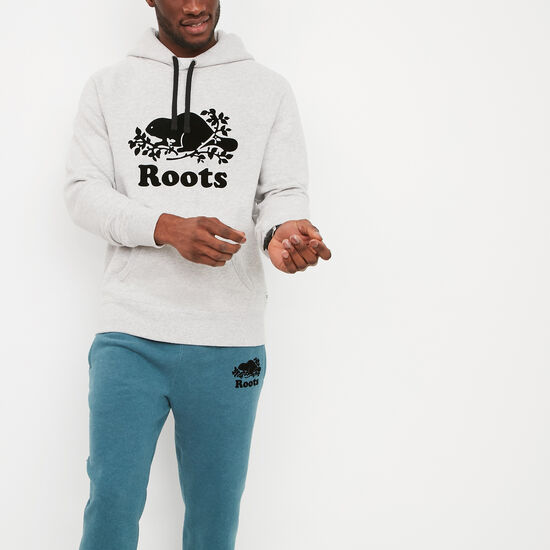 Roots-Men Sweatshirts & Hoodies-Original Kanga Hoody-Snowy Ice Mix-A