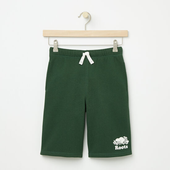 Roots-Kids Bottoms-Boys Original Athletic Shorts-Camp Green-A