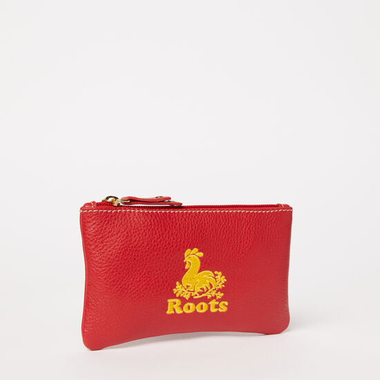 Roots-Leather Leather Accessories-Rooster Pouch Prince-Red-A