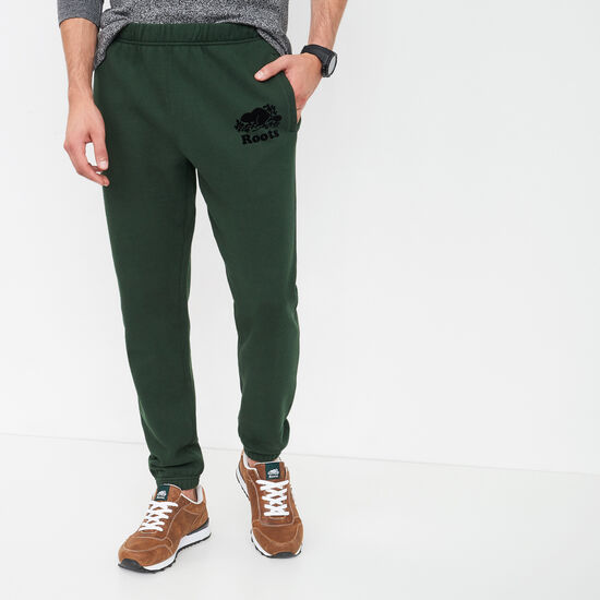 Roots-Men Bottoms-Slim Sweatpant-Park Green-A
