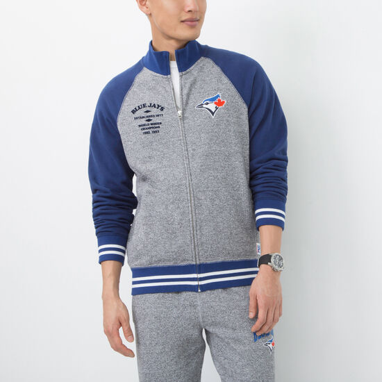 Mens Blue Jays Stadium Full Zip Mock