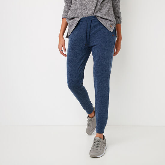 Roots-Women Slim Sweatpants-Elanor Pant-Cascade Blue Mix-A