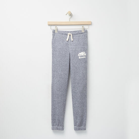 Roots-Kids Roots Salt & Pepper™-Girls Roots Salt and Pepper Original Sweatpant Rts-Salt & Pepper-A