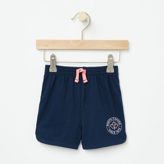 Roots-Kids Baby Girl-Baby Lucy Shorts-Cascade Blue-A
