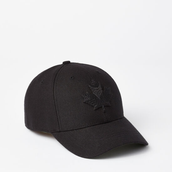 Roots-Men Hats-Modern Leaf Baseball Cap-Black-A