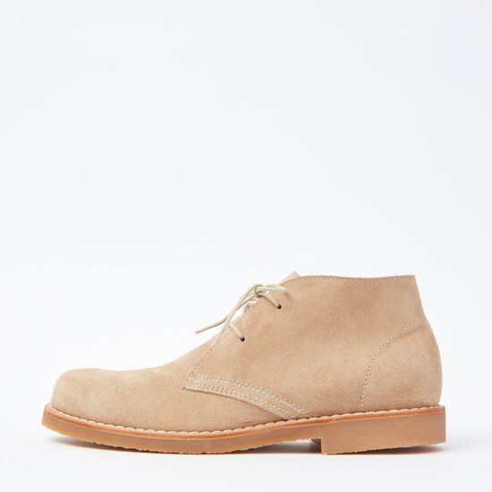 Roots-Shoes Men's Shoes-Mens Chukka Boot Suede-Sand-A