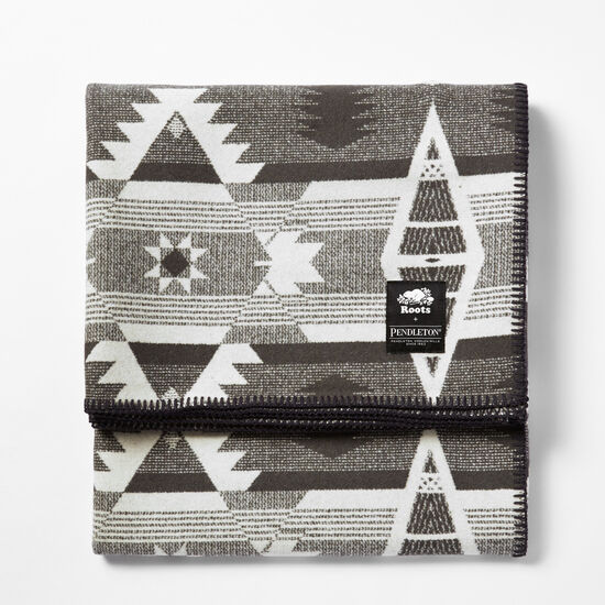 Roots-Men Roots Home-Pendleton Smoke Lake Blanket-Steel Grey-A