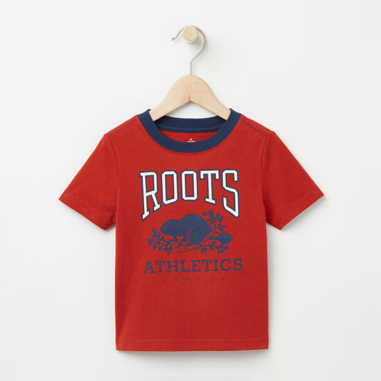 Roots-Kids T-shirts-Toddler RBA Glow In The Dark T-shirt-Mountie Orange-A