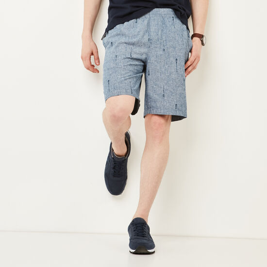 Roots-Men Bottoms-Campbell Paddle Shorts-Chambray Blue-A