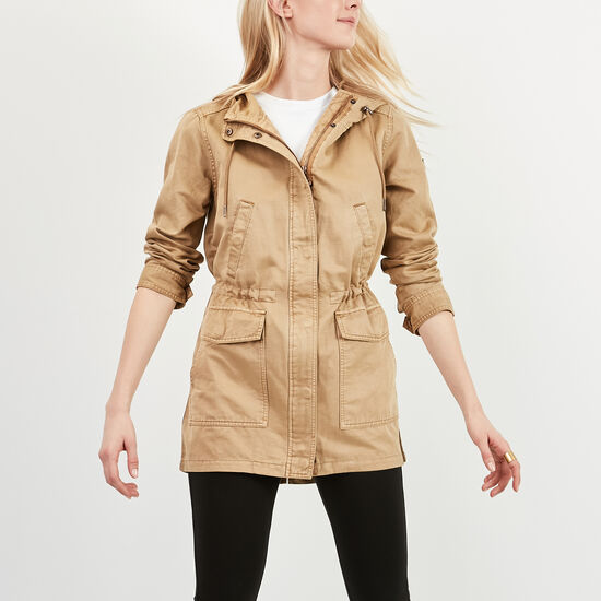 Roots-Women Jackets-Harrington Jacket-Kelp Beige-A